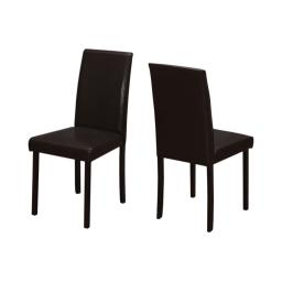 "Offex OFX-409870-MO 2 Piece Dining Chair, 36""H/Dark Brown Leather Look"