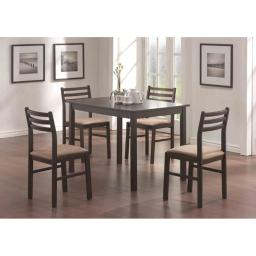 Offex OFX-284085-MO Cappuccino Veneer 5 Piece Dining Set