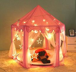 LifeVC Kids Princess Play Tent,55?x 53?(DxH),Indoor Girls Large Playhouse Play Tent for Childs Toddlers Gift/Presents(Balls Not Included)