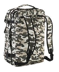 Cabin Max Riga 55x40x20cm Lightweight Carry-on Business Backpack and Holdall 15 1/2'' Laptop and Tablet Compartments - Ideal for Commuters and Travellers (Camo)