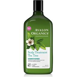 Avalon Organics Scalp Treatment Tea Tree Conditioner, 11 oz (Pack of 3)