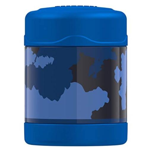 Thermos Funtainer 10oz Food Jar Blue & Black Camo Hot for 5 Hours Cold for 7 Hours