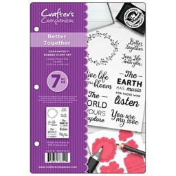 Crafter's Companion Ezmounted Stamp Set-Better Together