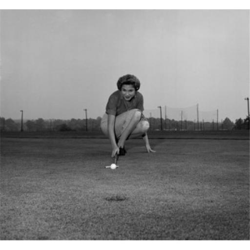 Posterazzi SAL2558895 Mid Adult Woman Playing Golf on a Golf Course Poster Print - 18 x 24 in.
