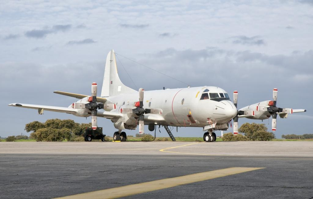 A Portuguese Air Force P-3C CUP Orion at Beja Air Base, Portugal Poster Print