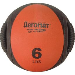 Agm Group-aeromat Fitness Products Agm1376lb 9 In. Dia. Dual Grip Power Medicine Ball, 6 Lbs - Black & Red