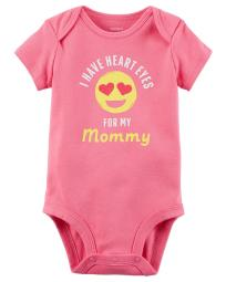 Carter's Baby Girls' Heart Eyes For Mommy Collectible Bodysuit