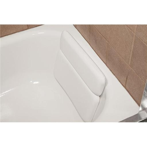 Living Health Products BB-2-Panel Bath Luxury Comfort 2-Panel Vinyl Bathtub Pillow with Relaxing Neck - White