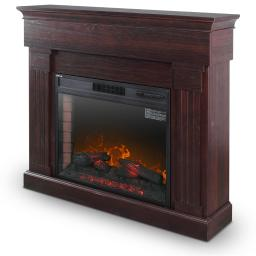 """DELLA 28"""" Freestanding Wall Mantel Fireplace Heater with Timer, Heat, Flame Control and Remote Control"""