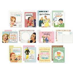 """Saucy Authentic Life Cards 36/Pkg 3""""X4"""" Pocket Crafting & Journaling Cards"""
