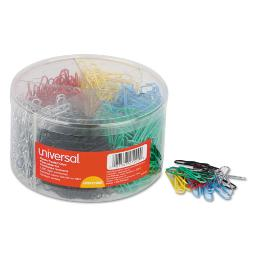 Plastic-Coated Paper Clips Small (No. 1) Assorted Colors 1,000 Per Pack | 1 Pack of: 1000
