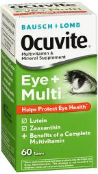Bausch + Lomb Ocuvite Eye + Multivitamin & Mineral Supplement Tablets - 60 Ct, Pack Of 3