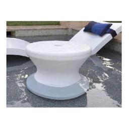 Ledge Lounger LLST-14T-W 0-10 in. Water Side Table, White
