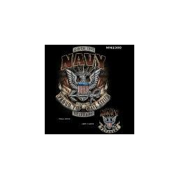 U S  MILITARY MERCHANDISE MM2300XXXL U S  NAVY PROUD TO HAVE SERVED T-SHIRT  BLACK 3X-LARGE MM2300XXXL
