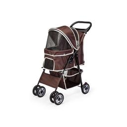 Amoroso 6748 brown 6 x 6 in. Pet stroller Wheel with Cup Holder, Brown