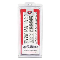 Character Kit Letters Numbers Symbols White Helvetica 258 Pieces   Total Quantity: 1