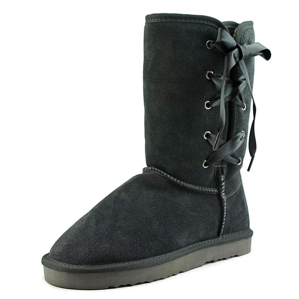 Style & Co. Womens Aliciah Leather Closed Toe Mid-Calf Cold Weather Boots