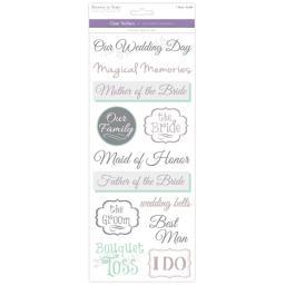 Multicraft Love & Marriage Clear Stickers-Wedding 2 SS498K