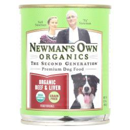 Newman's Own Organics Cat Food - Beef and Liver - Case of 12 - 12 oz.