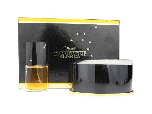 Monteil Champagne The Champagne Classic (EDT + Body Powder) 2 Piece Set VINTAGE