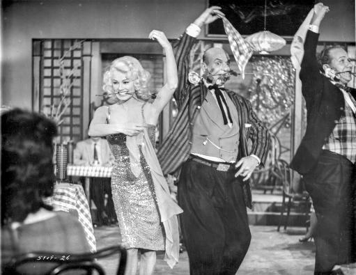 Sex Kittens Go To College Man and Woman Dancing in Black and White Photo Print