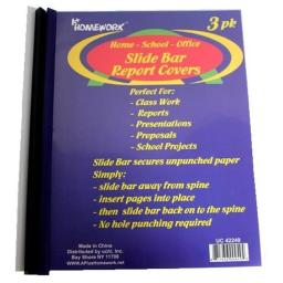 A Plus Homework 1858905 Slide Bar Report Covers - 3 Per Pack - Case of 48