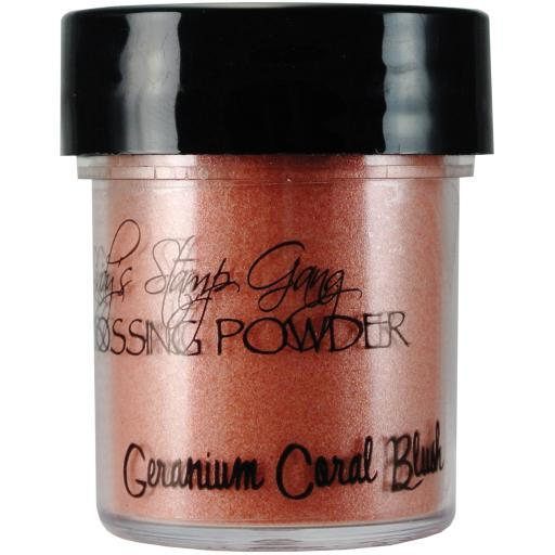 Lindy's Stamp Gang 2-Tone Embossing Powder .5oz-Geranium Coral Blush 4UZ9UQS79JNSAYEV
