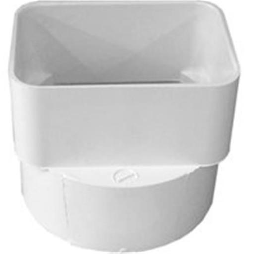 45344 S & D Downspout Adapter 3 x 4 x 4 Pvc