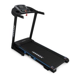 AKONZA Heavy Duty Foldable Running Exercise Electric Emergency Stop Treadmill w/ 2 Cup Holders and Wheels