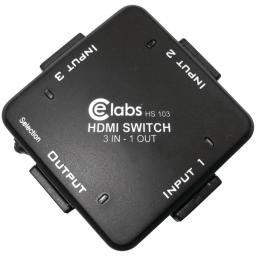CE LABS HS103 3-In, 1-Out Auto HDMI(R) Switcher