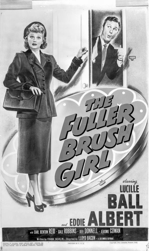 A Poster For the Fuller Brush Girl Photo Print