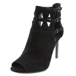 Nine West Womens Laulan Leather Open Toe Ankle Fashion Boots