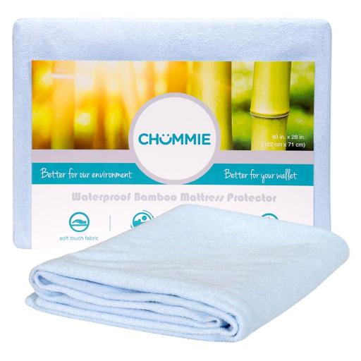 Chummie Luxury Reusable Rayon Bamboo Waterproof Bedding Overlay for Children and Teens with Bedwetting and incontinence