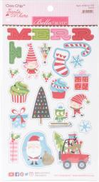 Santa Stops Here Chipboard Stickers-Icons