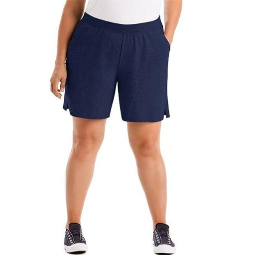 Just My Size 00090563025756 Cotton Jersey Pull-On Womens Shorts, Navy - 1X VS3MWEKZGGOZ6P7D