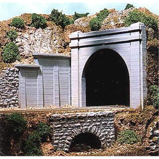Chooch CHO9730 N Scale Double Concrete Tunnel Portal
