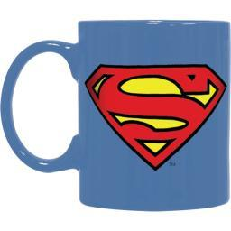 Superman Embossed Logo 20 oz Coffee Mug Ceramic DC Comics Superheroes