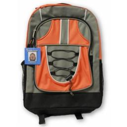 A Plus Homework 2290985 Bungee Backpack - Orange, Case of 12