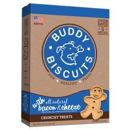 Buddy Biscuits 12200 Buddy Biscuits Original Oven Baked Crunchy Treats Bacon And Cheese 16 Ounces