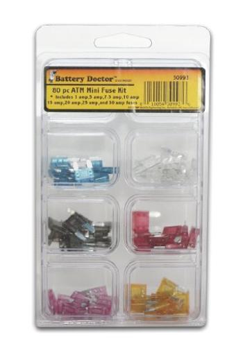 Wirthco 30993 Battery Doctor Atm Mini-Fuse Kit - 80 Piece