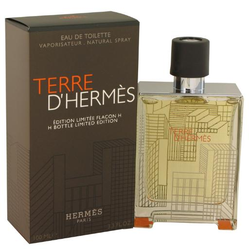 Terre D'Hermes by Hermes Eau De Toilette Spray (Limited Edition Packaging and bottle) 3.3 oz Hermes Terre D'Hermes harkens to the scent of a natural man living in splendor. This elegant fragrance debuted on the market in 2006 and quickly defined itself as a leading industry standard. We are pleased to sell Hermes Terre d'Hermes products, including Terre d'Hermes cologne.