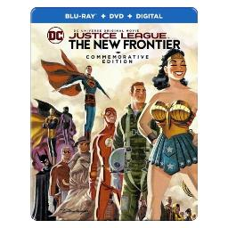 Justice league-new frontier (blu-ray/dvd/uv/commemorative ed/steelbook) BR651797