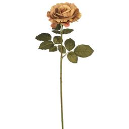 Vickerman FA174301 Autumn French Rose Floral Stem, Light Brown - Pack of 3