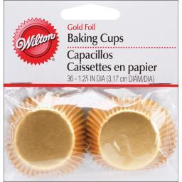 Mini Baking Cups Gold Foil 36/Pkg