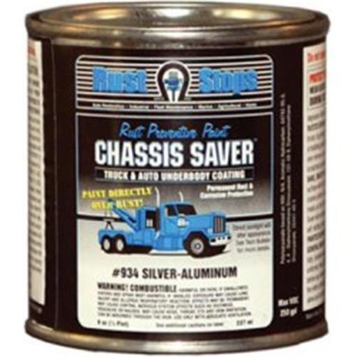 Magnet Paint & Shellac UCP934-16 8 oz Chassis Saver Paint, Stops & Prevents Rust - Sliver-Aluminum