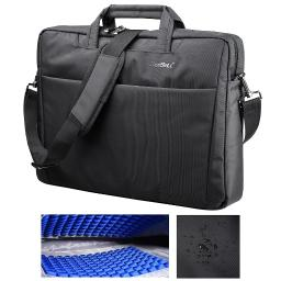 "CoolBELL® 17.3"" Laptop Notebook Handbag Messenger Sleeve Case Bag Shoulder Bag Briefcase Water Resistant Bubble Pad"