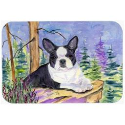 Carolines Treasures SS8638LCB Boston Terrier Glass Cutting Board, Large SS8638LCB