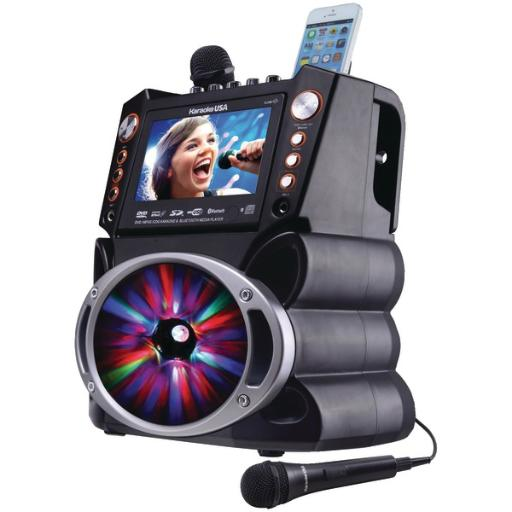 Karaoke usa gf846 bluetooth(r) karaoke machine with synchronized leds LRTKH2YEYSSYHFVW