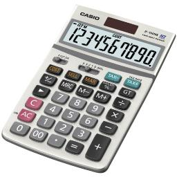 Casio-computer jf-100ms desk calculator w/ solar plus