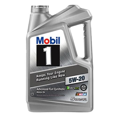 Mobil MO04525Q 5 Quart 5W20 Synthetic Motor Oil, Pack of 3